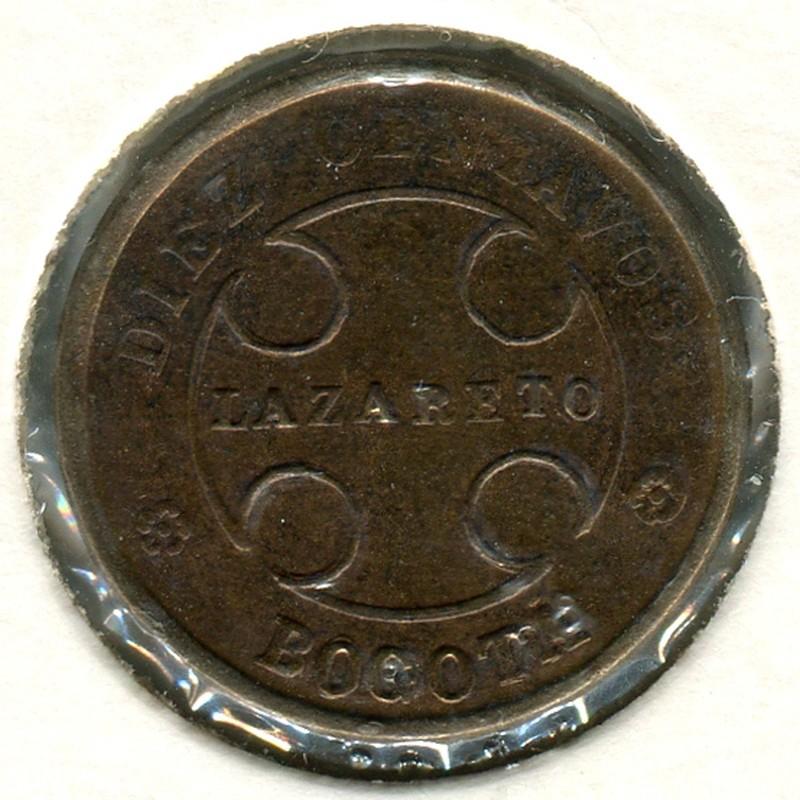 Колумбия leprosarium coinage 10 сентаво 1901 #23 VF - 1