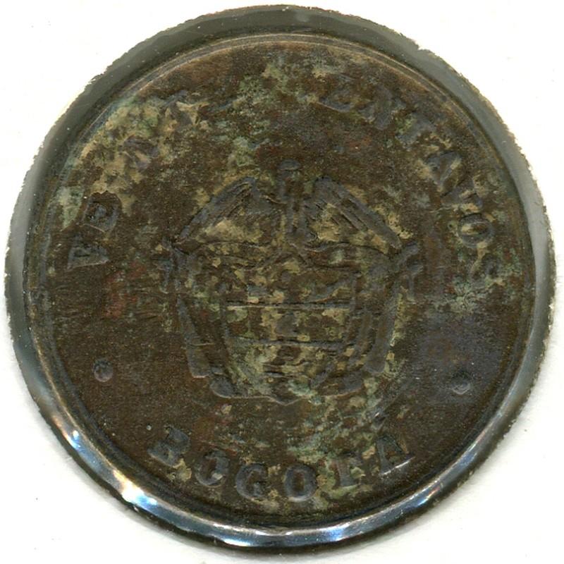 Колумбия 20 сентаво 1901 #L4 VF - 1