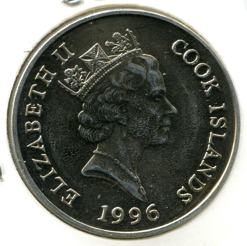 Остров Кука 1 доллар 1996 #387 - 1