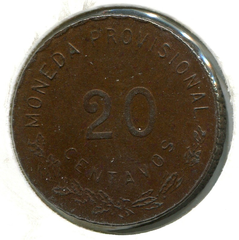 Мексика Оахака 10 сентаво 1915 #727.1 XF - 1