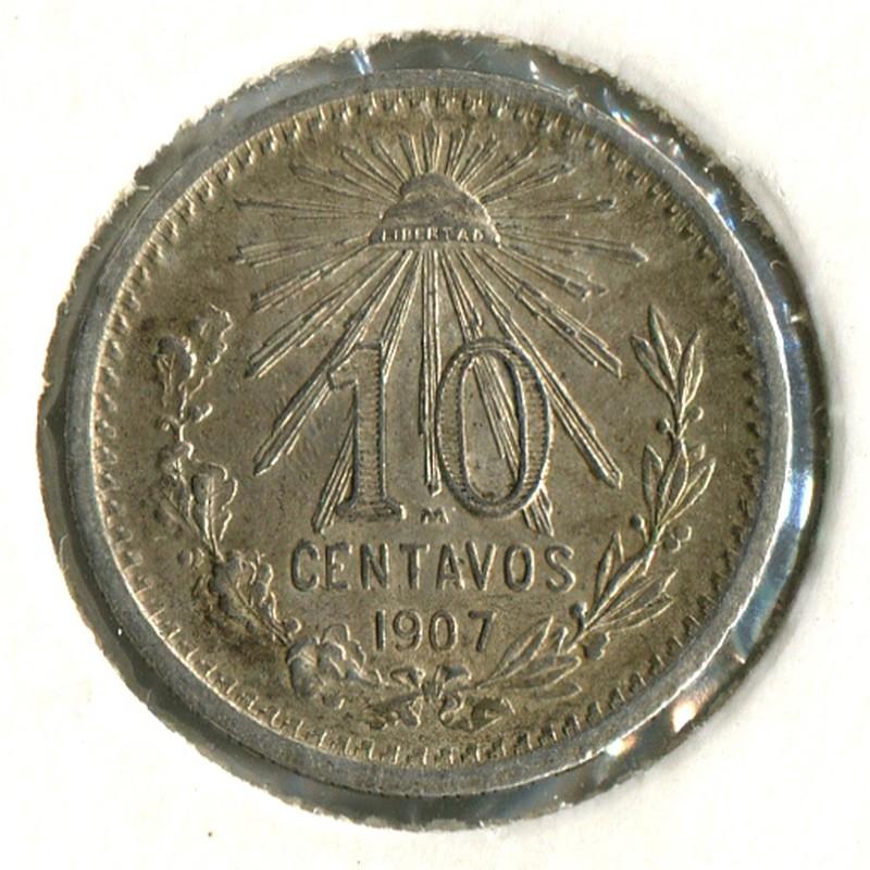 Мексика 10 сентаво 1907 #428 BU - 1