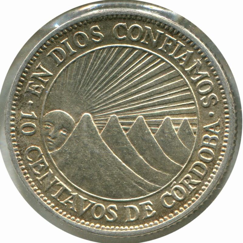 Никарагуа 5 сентаво 1928 #13 aUNC - 1