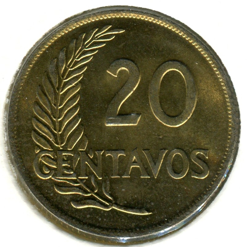 Перу 20 сентаво 1955 #221.23 BU - 1