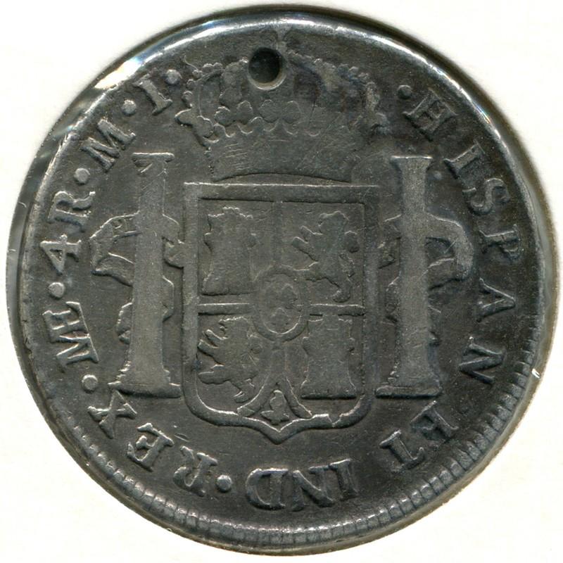 Перу 4 реала 1780 #77 F - 1