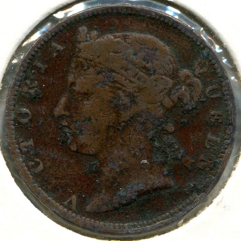 Стрейтс Сетлментс 1/2 цента 1889 #15 F - 1