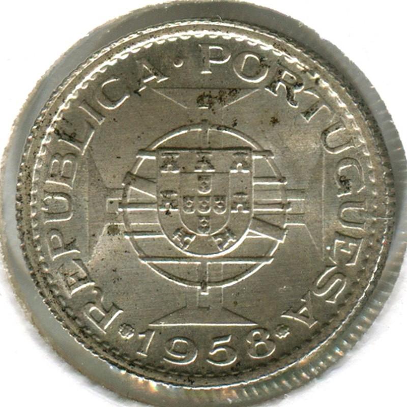 Тимор 3 эскудо 1958 #14 BU - 1