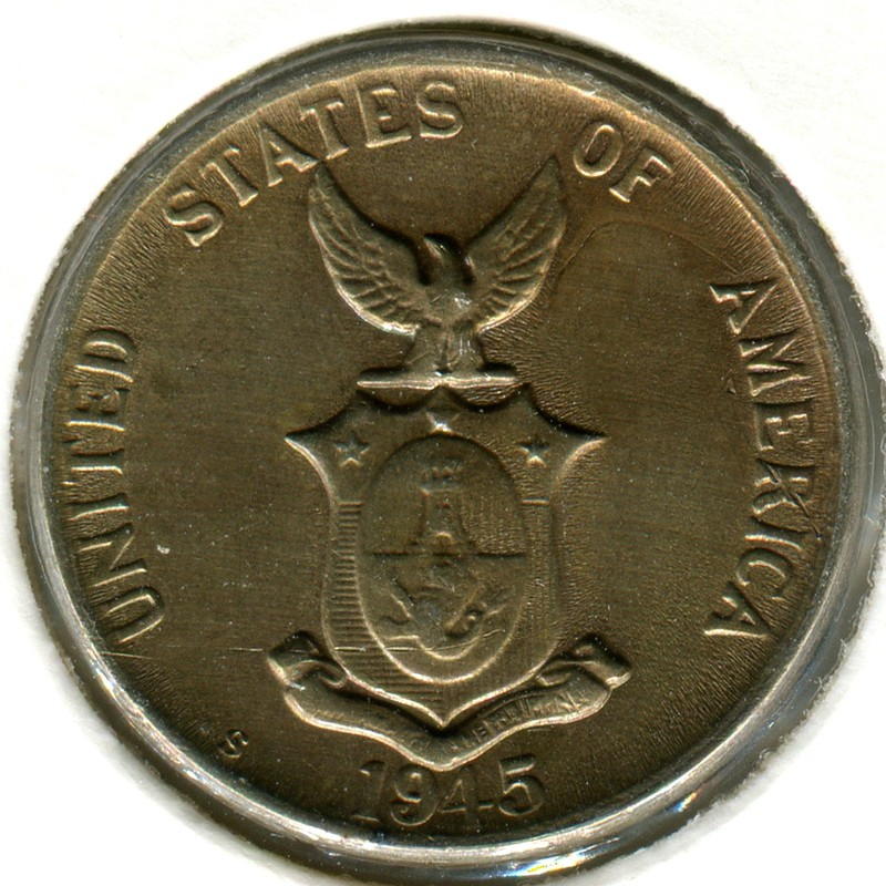 Филиппины 5 сентаво 1945 #180a aUNC - 1