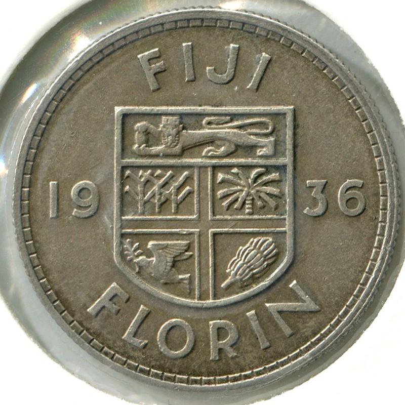 Фиджи 1 флорин 1936 #5 aUNC - 1