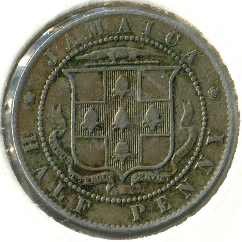 Ямайка 1/2 пенни 1916 #25 VF - 1