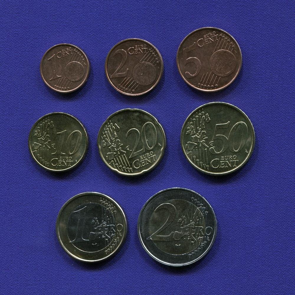 Набор монет Бельгии EURO 8 монет 1999 - 2000 UNC - 1