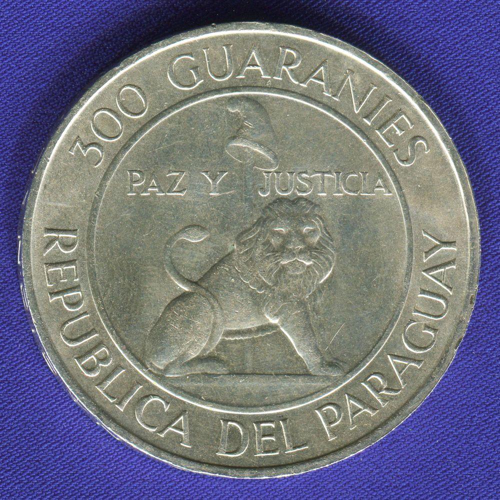 Парагвай 300 гуарани 1973 aUNC- Штемпельный блеск  - 1