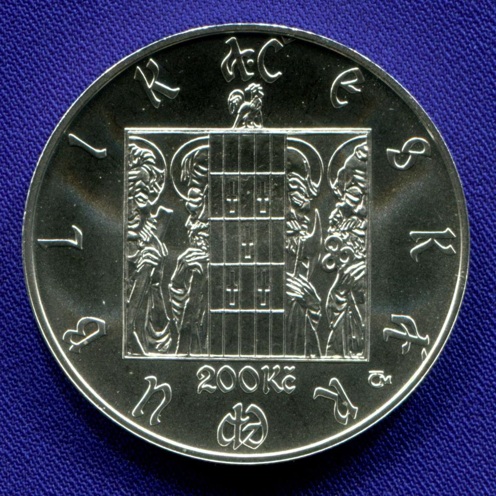 Чехия 200 крон 2010 UNC 600 лет Пражским часам  - 1