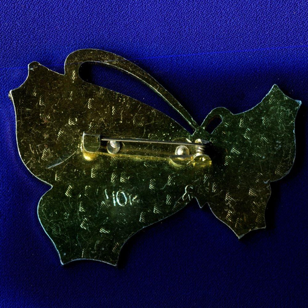 Детский значок «Бабочка» Легкий металл Булавка - 1