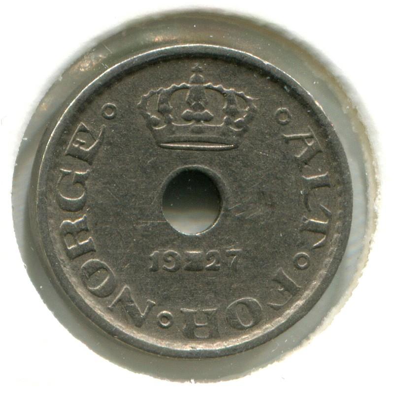 Норвегия 10 эре 1927 #384 VF - 1
