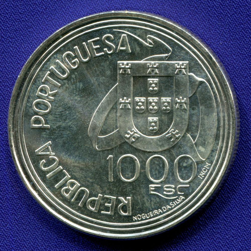 Португалия 1000 эскудо 1994 UNC Тордесильясский договор  - 1