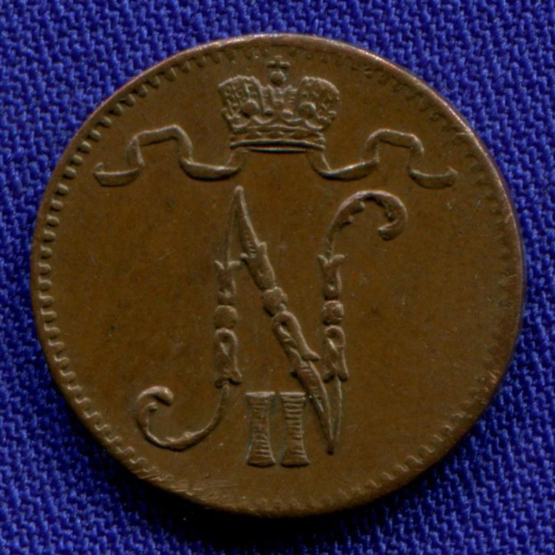 Николай II 1 пенни 1907 / UNC - 1