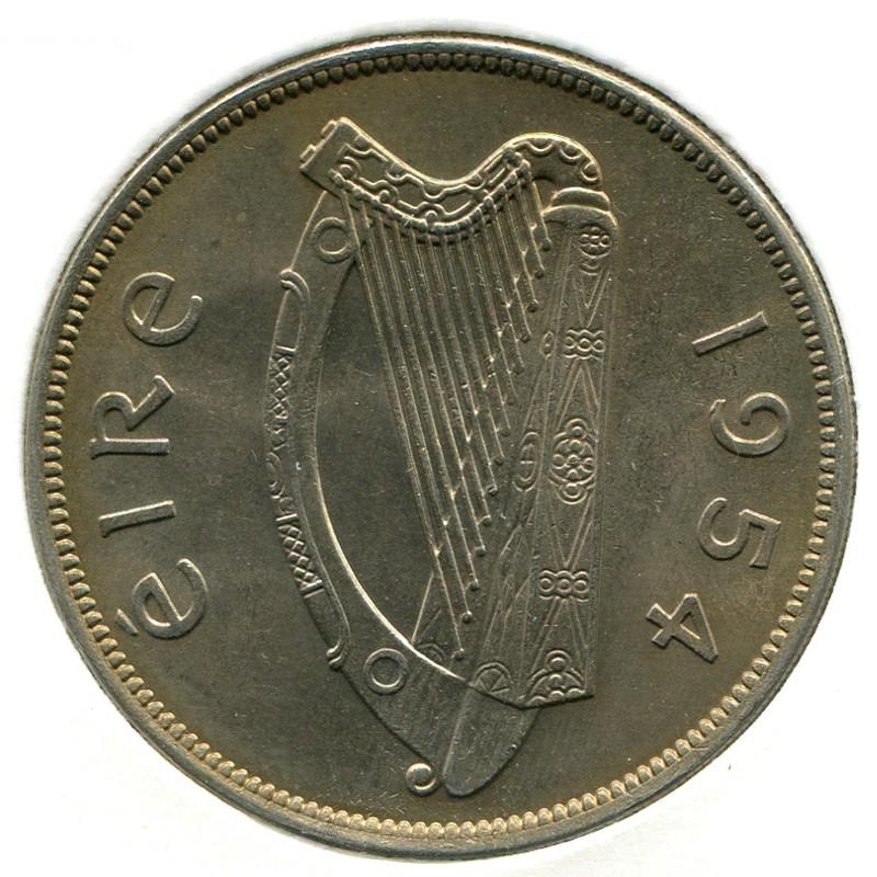 Ирландия 1/2 кроны 1954 #16a UNC - 1