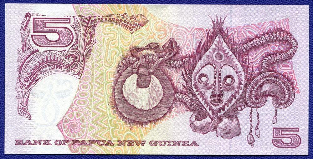Папуа - Новая Гвинея 5 кина ND (1993) UNC - 1