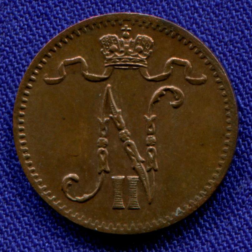 Николай II 1 пенни 1916 / UNC - 1