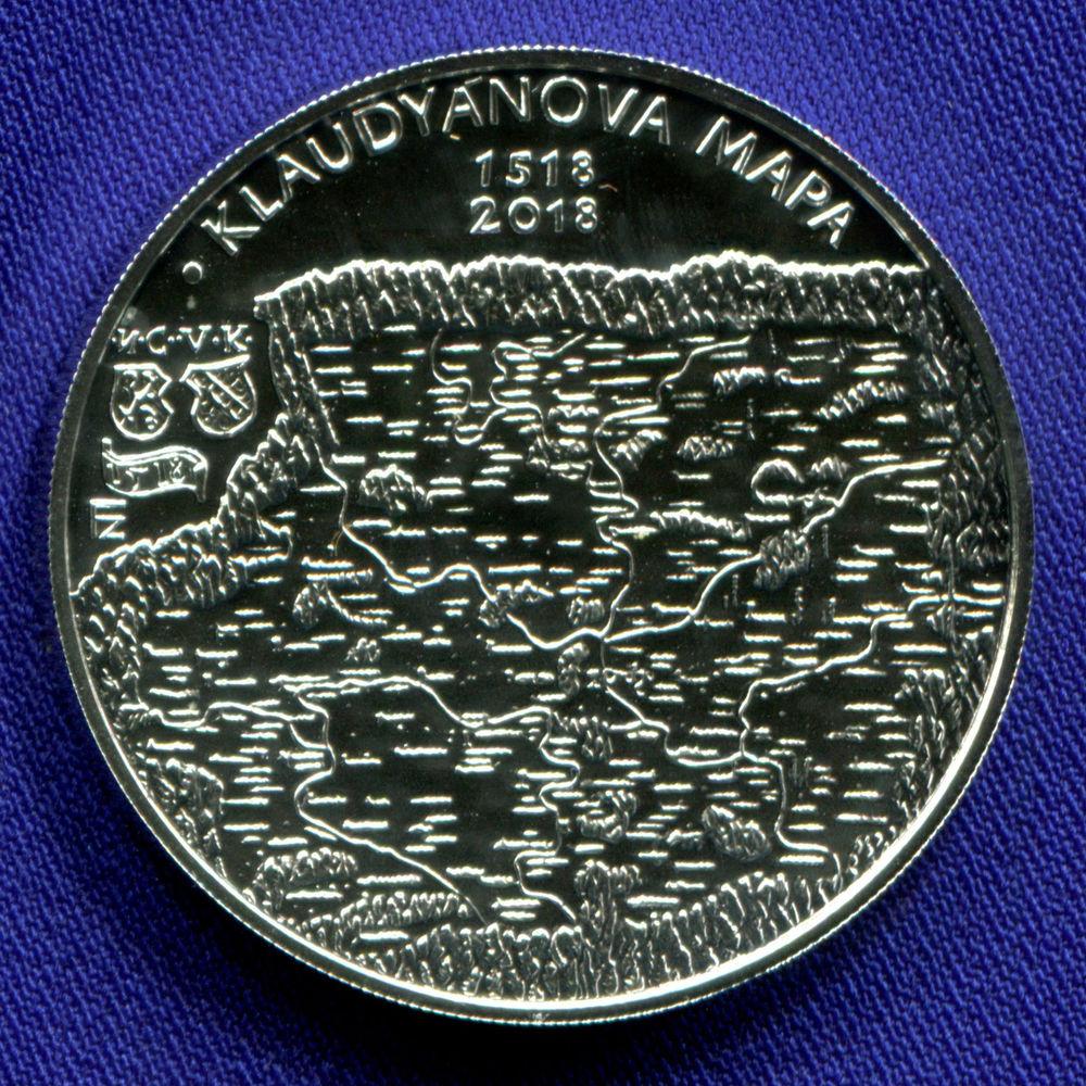 Чехия 200 крон 2018 UNC 500-летие  печати карты Микулаша Клаудиана  - 1