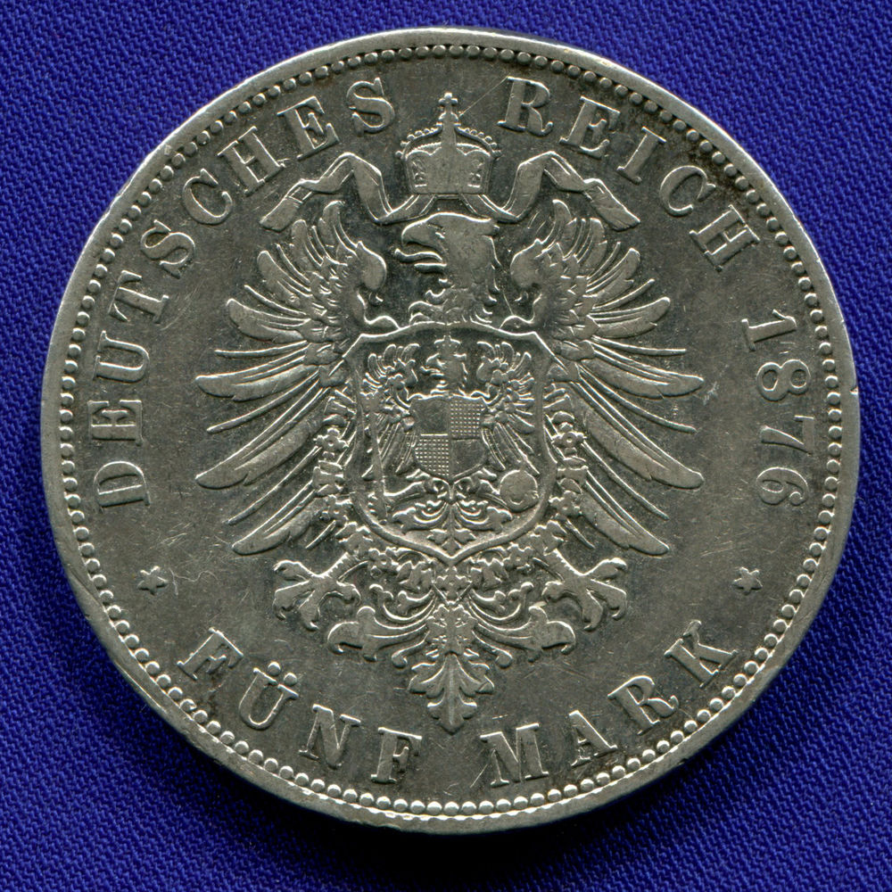 Германия/Пруссия 5 марок 1876 VF  - 1