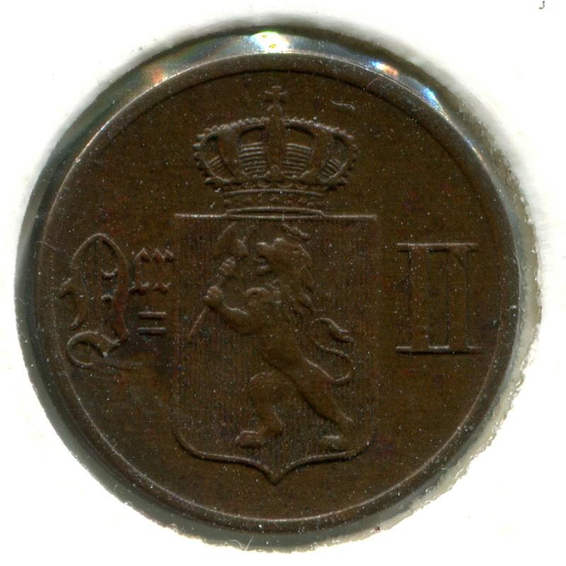 Норвегия 1 эре 1893 #352 aUNC - 1