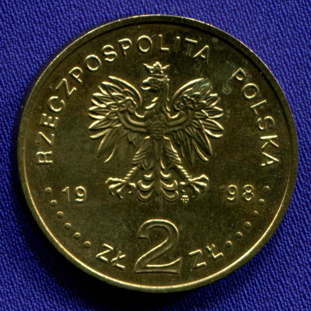 Польша 2 злотых 1998 aUNC Адам Мицкевич  - 1
