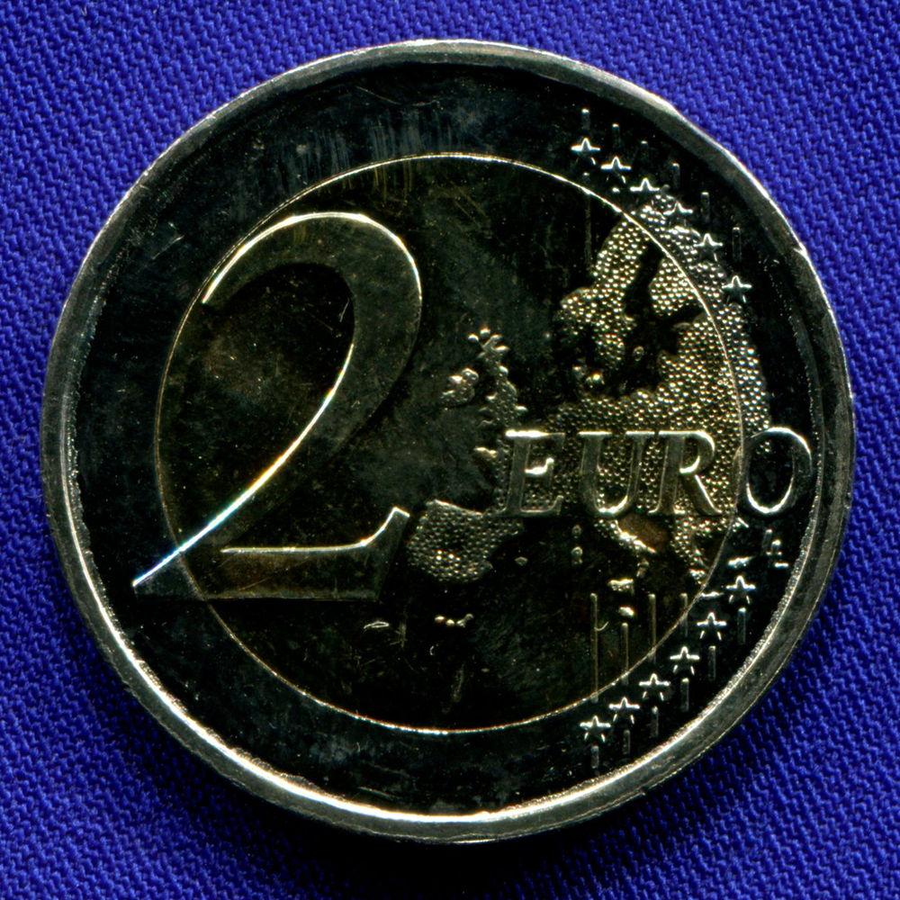 Греция 2 евро 2018 UNC Костис Паламас  - 1