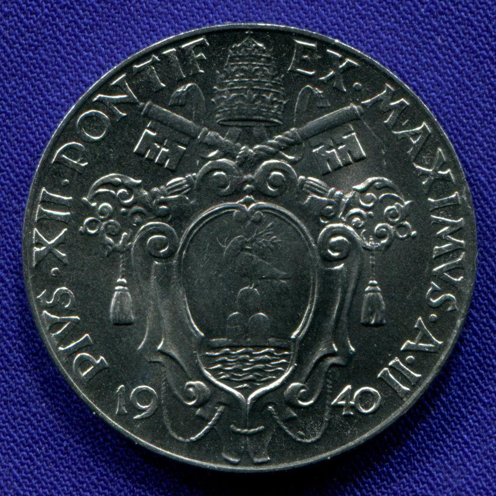 Ватикан 1 лира 1940 aUNC  - 1