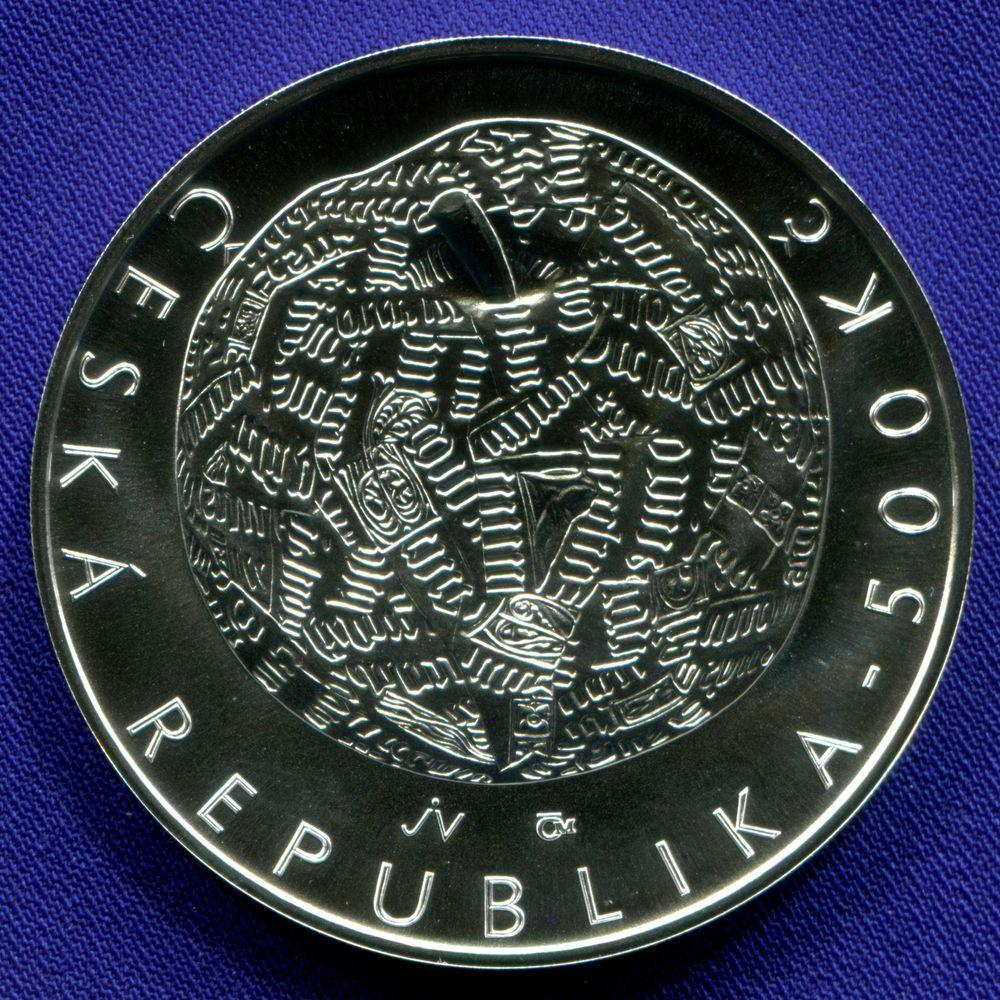 Чехия 500 крон 2014 UNC 100 лет со дня рождения Иржи Колара  - 1