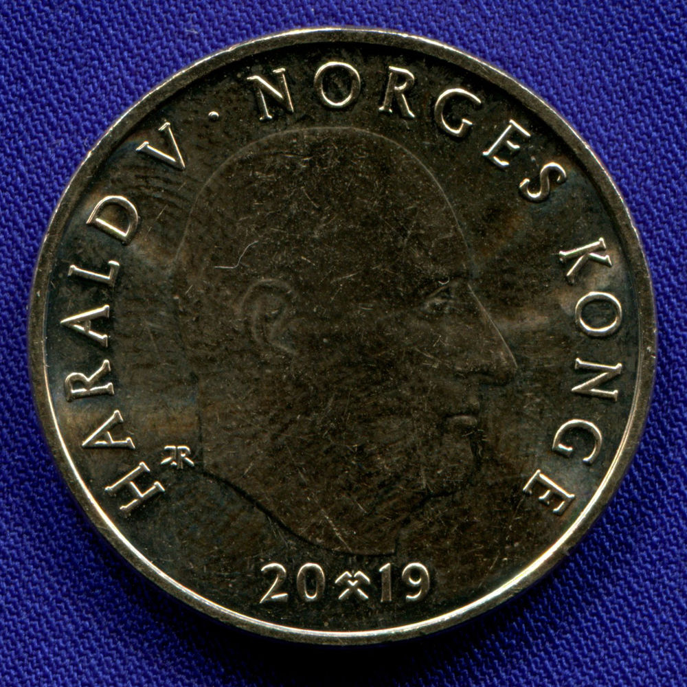 Норвегия 20 крон 2019 UNC 150 лет со дня рождения Густава Вигеланда  - 1
