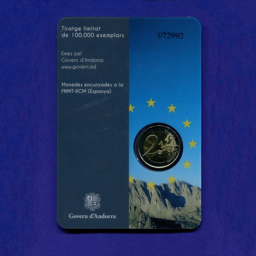 Андорра 2 евро 2014 UNC 20 лет вступления в Совет Европы  - 3