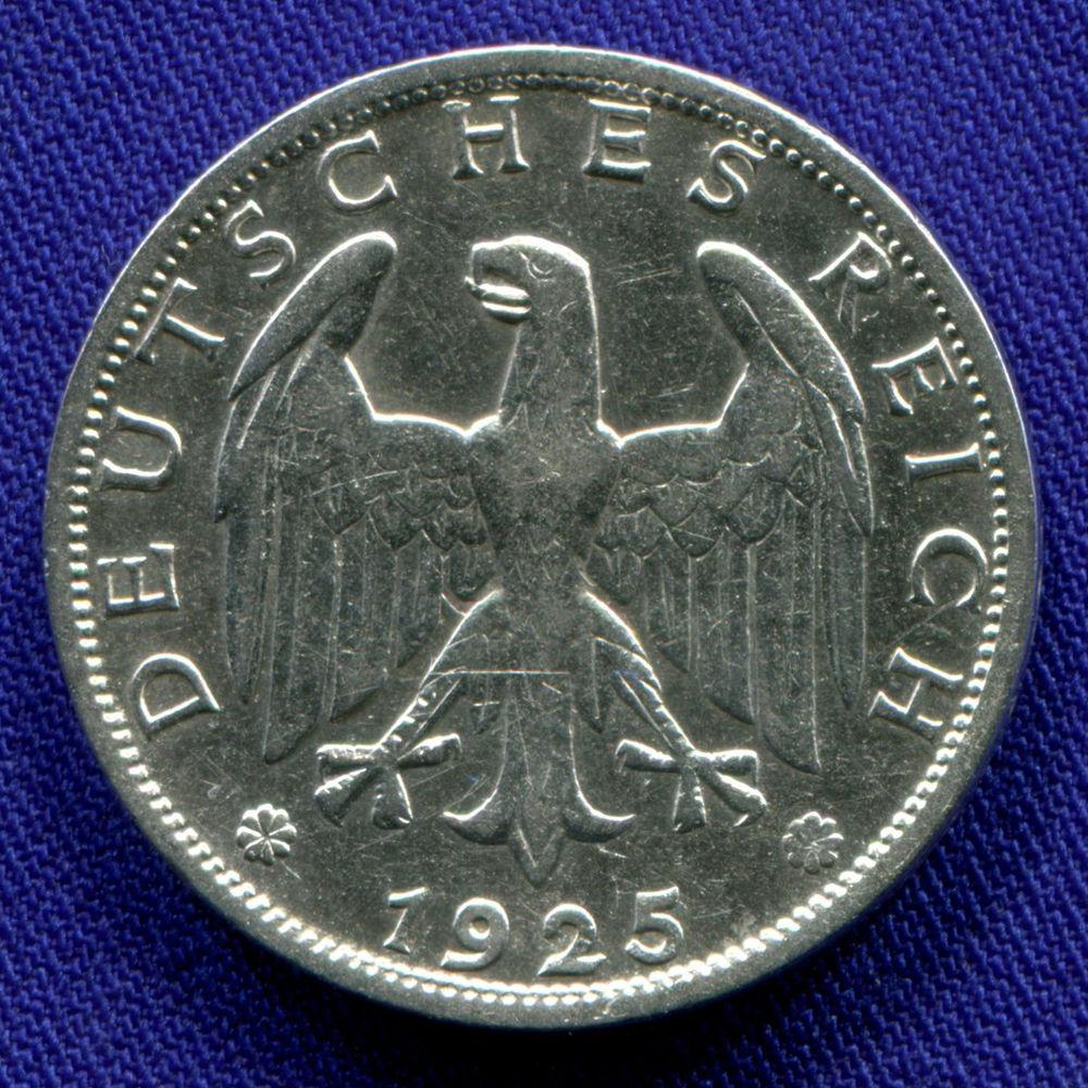 Германия/Веймарская республика 1 марка 1925 VF - 1
