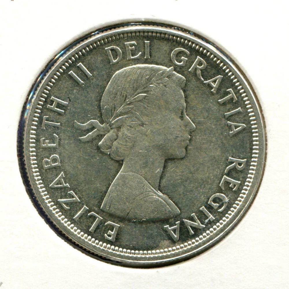 Канада 1 доллар 1964 UNC 100 лет Шарлоттауну и Квебеку  - 1