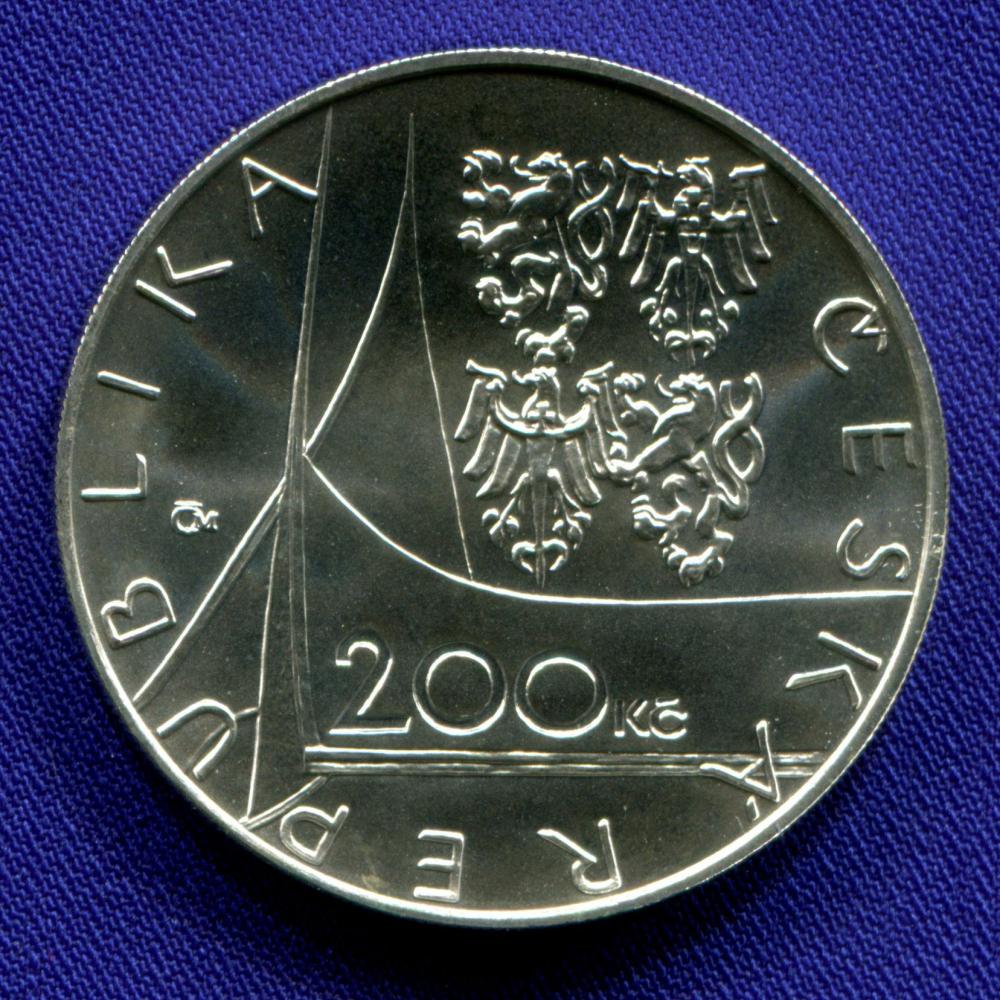 Чехия 200 крон 1997 UNC 650 лет основания Эммаусского монастыря  - 1