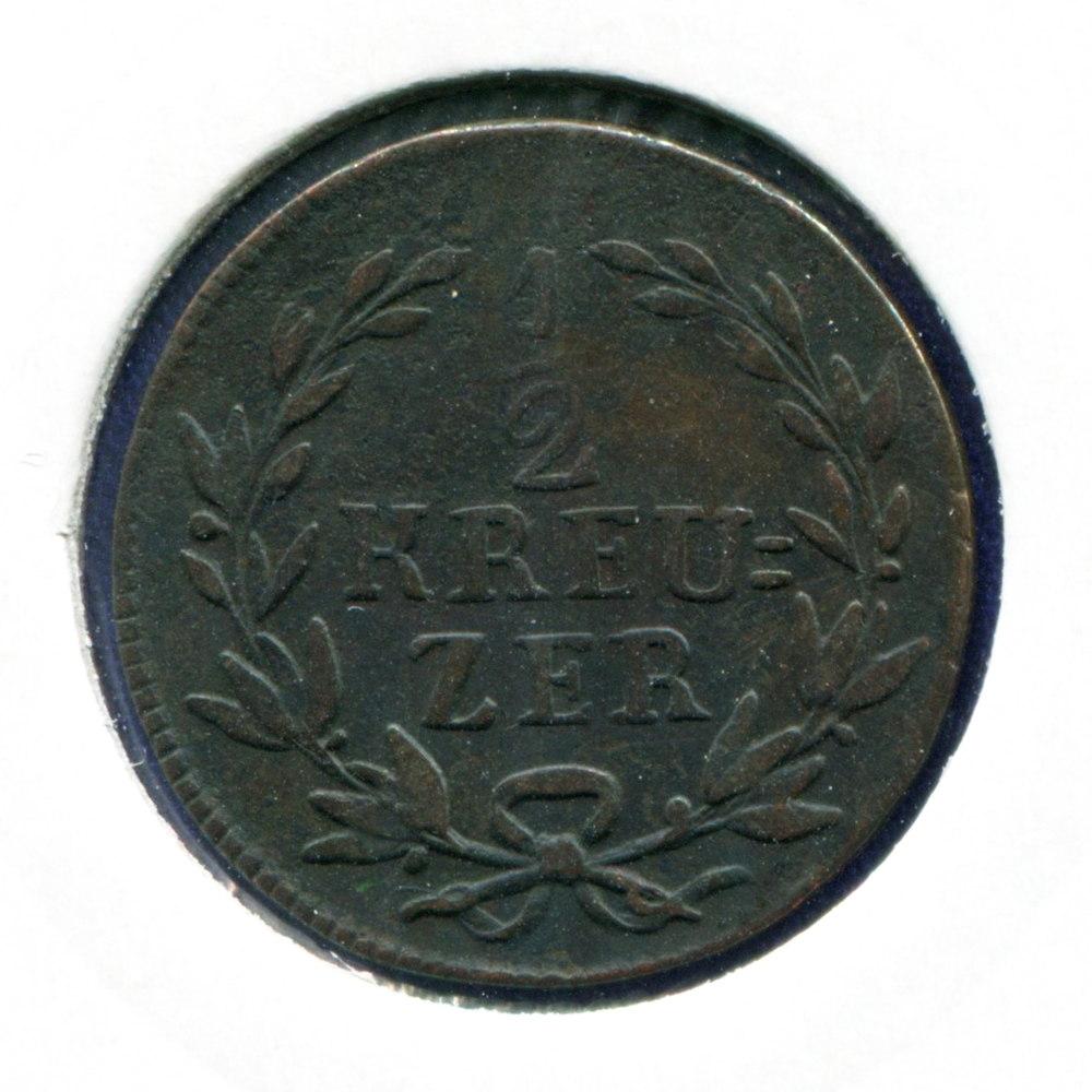 Германия/Баден 1/2 крейцера 1817 VF  - 1