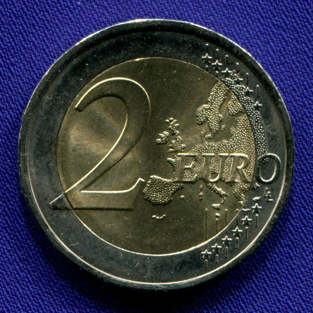 Португалия 2 евро 2015 aUNC Красный крест  - 1