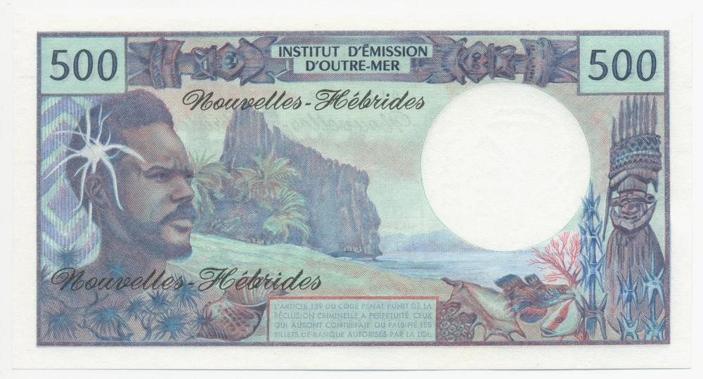 Новые Гебриды 500 франков ND 1970-80 UNC - 1