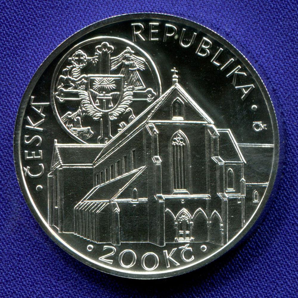 Чехия 200 крон 2013 UNC Монастырь Золотая Корона  - 1