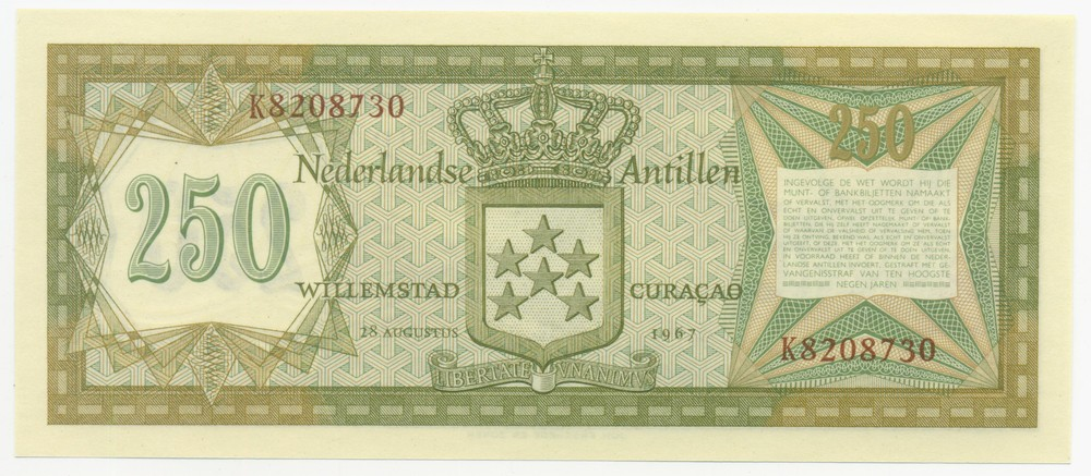 Нидерландские Антилы 250 гульденов 1967 - 1