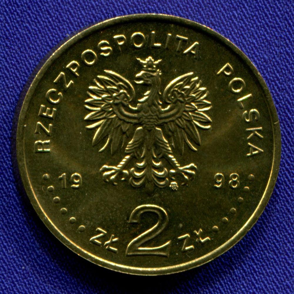 Польша 2 злотых 1998 aUNC Олимпиада Нагано 1998  - 1
