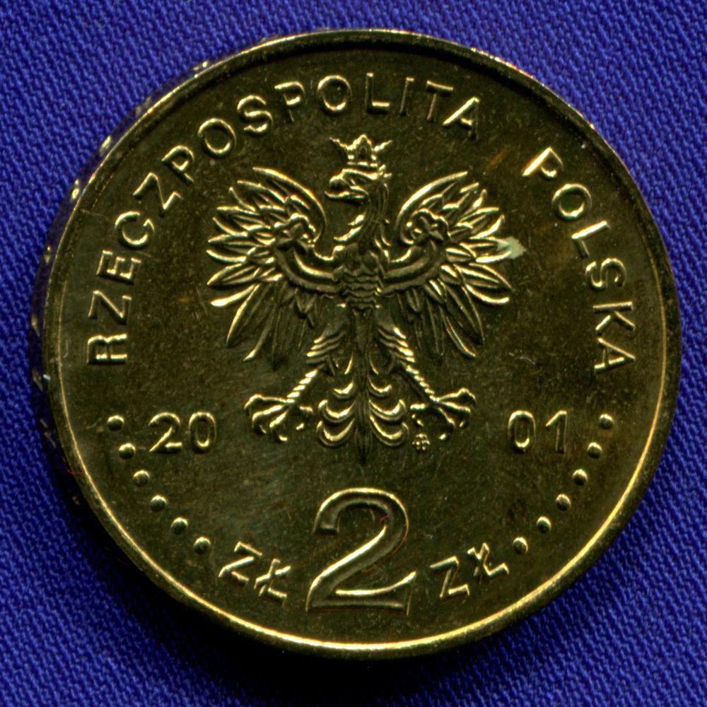 Польша 2 злотых 2001 aUNC XII Международный конкурс скрипачей имени Генрика Венявского  - 1