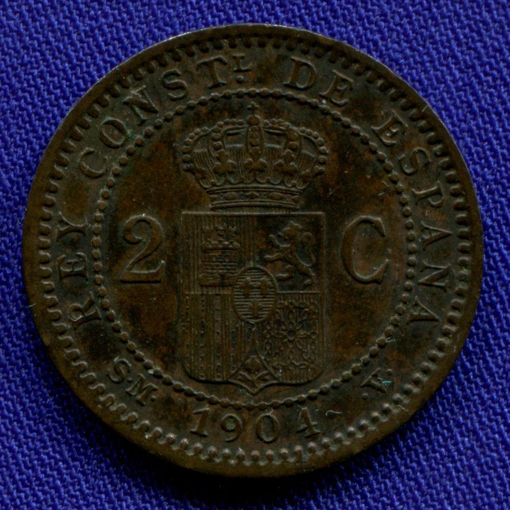 Испания 2 сантима 1904 VF - 1