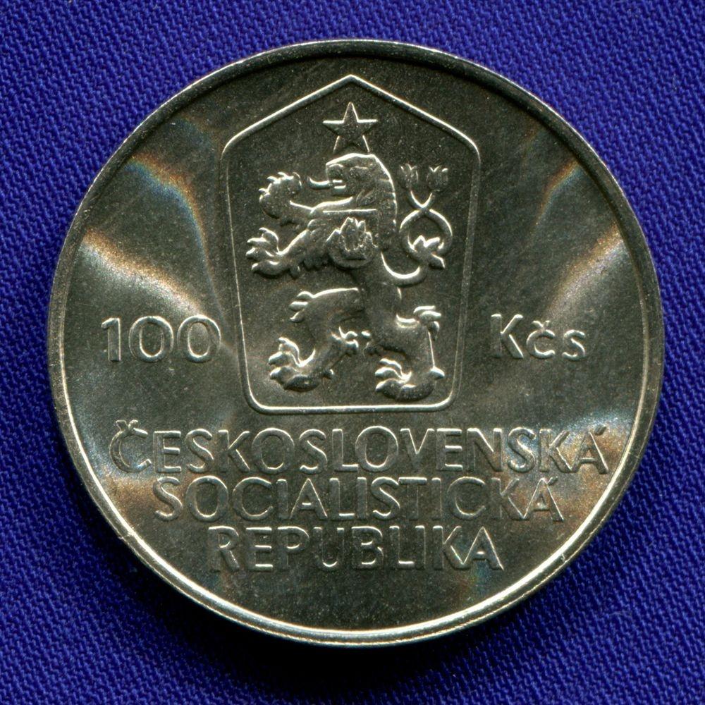 Чехословакия 100 крон 1985 UNC 200 лет со дня рождения Яна Голлы  - 1