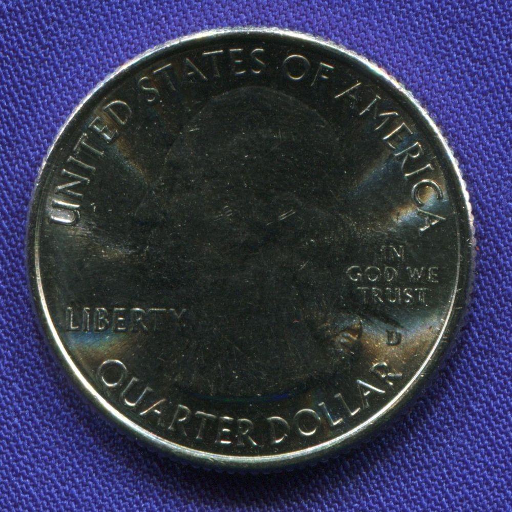 США 25 центов 2017 UNC Эффиджи-Маундз  - 1