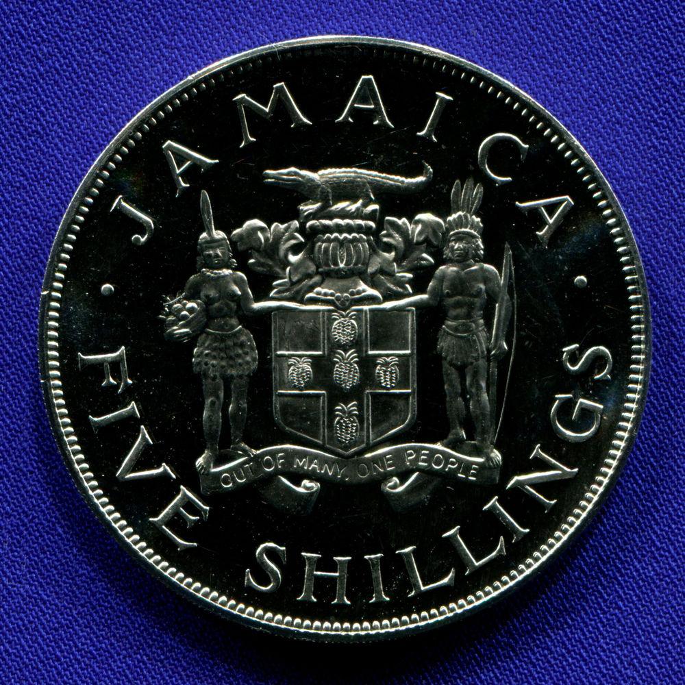 Ямайка 5 шиллингов 1966 Proof VIII Игры Содружества  - 1