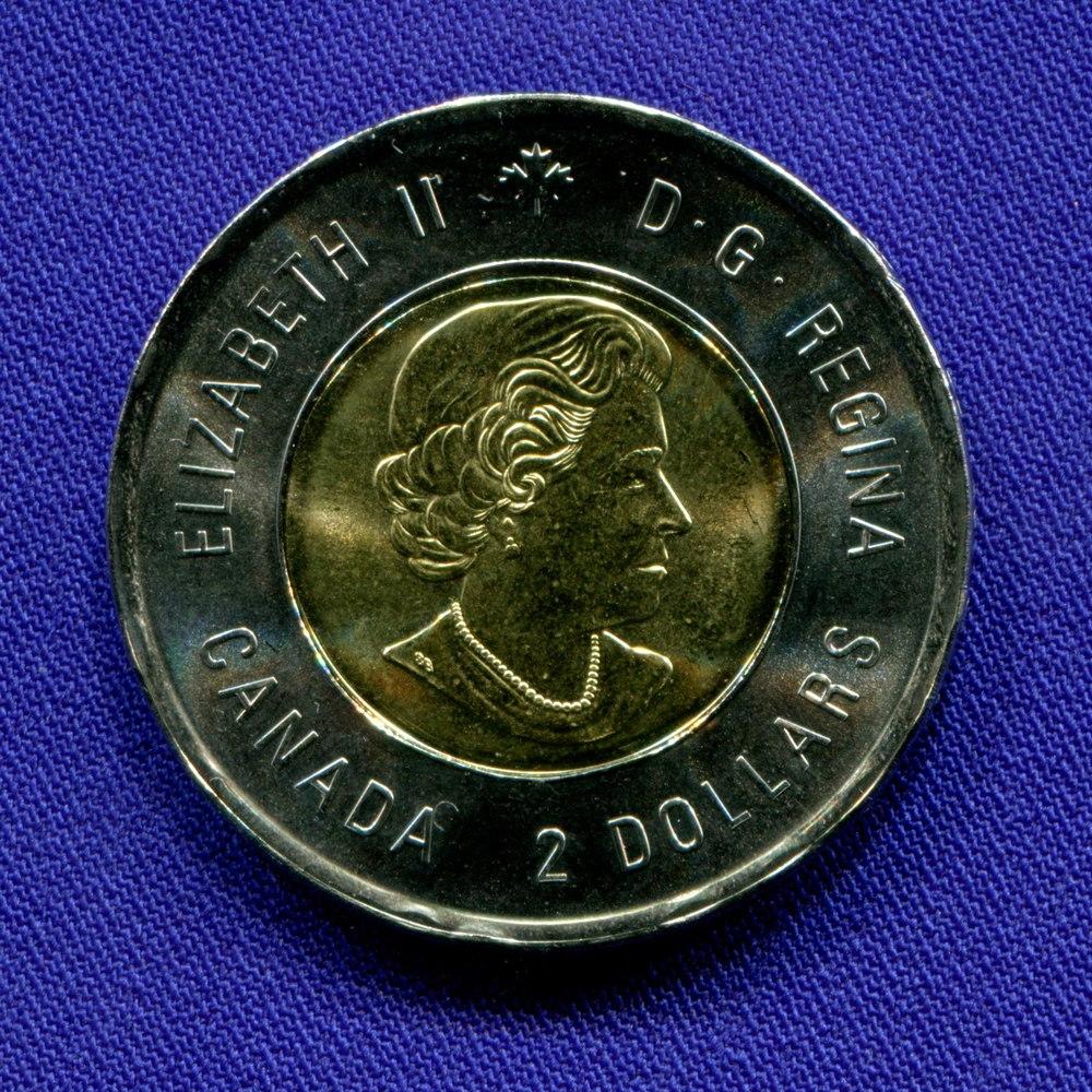 Канада 2 доллара 2015 UNC 100-летие стихотворения «На полях Фландрии» - 1