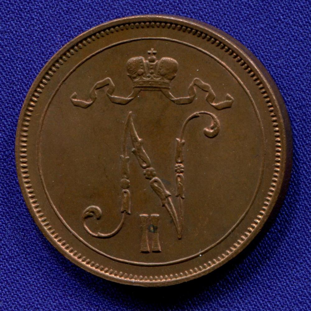 Николай II 10 пенни 1914 UNC - 1