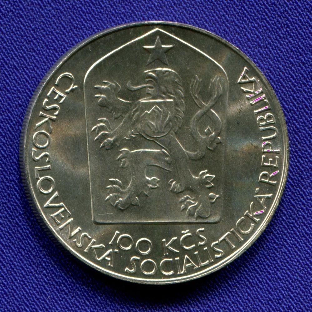 Чехословакия 100 крон 1983 UNC 100 лет Пражскому национальному театру - 1