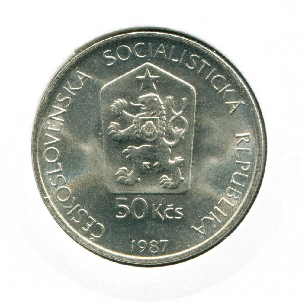 Чехословакия 50 крон 1987 UNC Лошадь Пржевальского  - 1